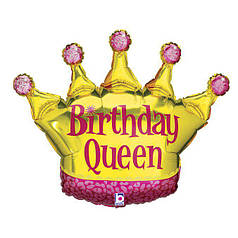 Фольгированная корона Birthday Queen