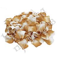 Лепестки роз (уп. 120шт) бежево-белые, фото 1