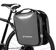 Велосумка Crosso DRY BIG 60L Серая (Велобаул, Велорюкзак на багажник) (CO1009-grey), фото 1