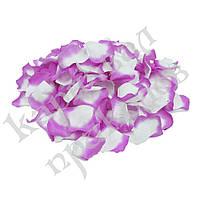 Лепестки роз (уп. 120шт) лилово-белые, фото 1