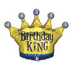 Фольгированная корона Birthday King