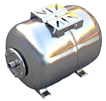 Гидроаккумулятор 100 л 10bar нержавейка горизонтальный, фото 2