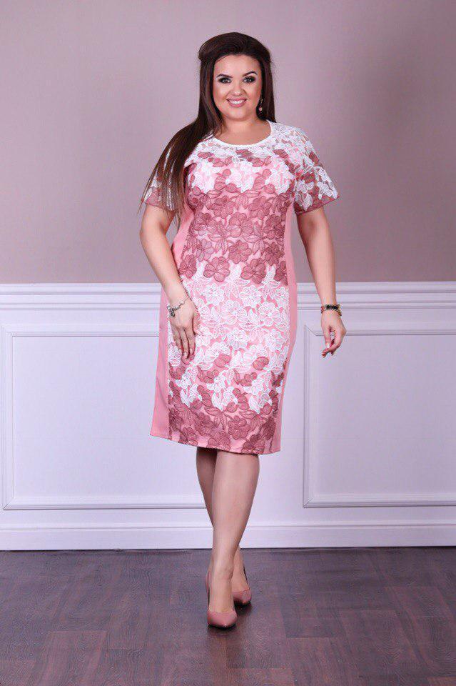 Летнее льняное женское платье, батал р. 50,52,54,56