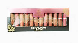 Блеск для губ Dermacol lip glaze (12 шт.)