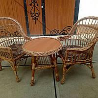 Набор мебели из лозы с мягкими сидениями