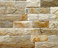 Плитка Сланец «Мраморный Кайрак» со сколом шир. 7,5 см. 4 стор. пиленые