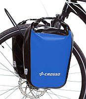 Велосумка Crosso DRY SMALL 30 L Синяя (Велобаул, Велорюкзак на багажник) (CO1010-blue), фото 1