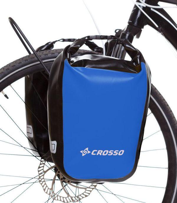 Велосумка Crosso DRY SMALL 30 L Синяя (Велобаул, Велорюкзак на багажник) (CO1010-blue), фото 1