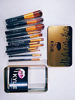 Набор профессиональных кисточек Kylie Professional Brush Set 12 в 1 (золото)