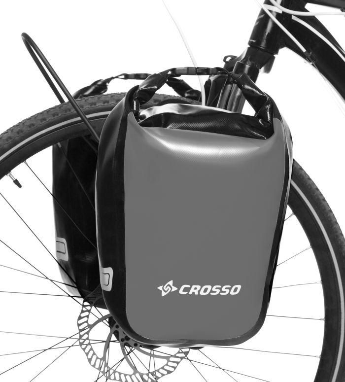 Велосумка Crosso DRY SMALL 30 L Серая (Велобаул, Велорюкзак на багажник) (CO1010-grey), фото 1