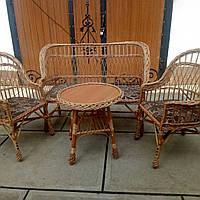 """Набор мебели из лозы с мягкими сидениями""""Роксолана"""""""