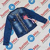 Подростковые  джинсовые пиджаки для девочек оптом