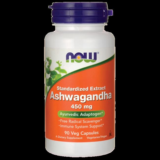 Ashwagandha (Ашваганда) 450 mg NOW Foods 90 Veggie Caps