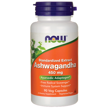 Ashwagandha (Ашваганда) 450 mg NOW Foods 90 Veggie Caps, фото 2
