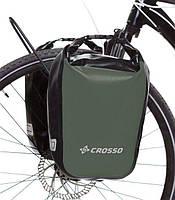 Велосумка Crosso DRY SMALL 30 L Хаки (Велобаул, Велорюкзак на багажник) (CO1010-haki), фото 1