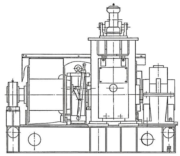 Схема лебедки шахтной ЛВ-50