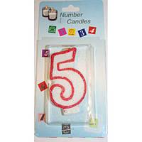 Свеча цифра в торт в ассортименте, фото 1