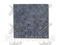 "3D мозаика из резано-колотого камня кварцита-сланца ""BLACK JACK"" Иран KLVIV"
