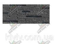 """Облицовочная панель из резано-колотого кварцита-сланца """"BLACK JACK"""" Иран KLVIV 15 х 30см"""
