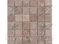 "Мозаика облицовочная (антик) плит. 4,8х4,8 см. из вьетнамского ТРАВЕРТИНА  ""TOSCANA"" KLVIV         , фото 1"