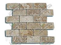 """Мозаика облицовочная (антик) розтяжка плит.4,8 см х 10 см из вьетнамского травертина  """"TOSCANA"""" KLVIV"""