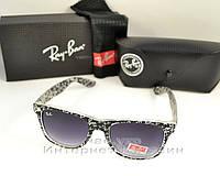 Мужские солнцезащитные очки Ray Ban Wayfarer RB 2140 буквы унисекс рей бен мода реплика
