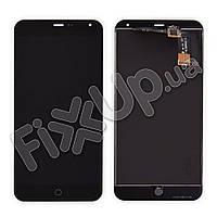 Дисплей Meizu M1 Note с тачскрином в сборе, цвет черный