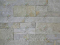 """Плитка Сланец """"Серебреные пески"""" KLVIV римская кладка 5/10/15см торц."""