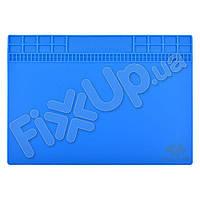 Коврик для рабочего стола с магнитной лентой 250*350 мм, синий, силиконовый
