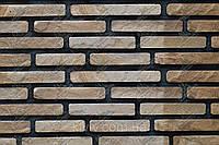 """Фасадно-стеновой песчаник """"Тигровые кирпичи""""  KLVIV 3 см. уп.0.5 м.кв"""
