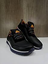 Подростковые кроссовки  из натуральной кожи черные EXTREM, фото 2