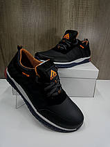 Подростковые кроссовки  из натуральной кожи черные EXTREM, фото 3