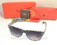 Женские солнцезащитные очки Ray Ban Wayfarer RB 2140 буквы унисекс рей бен мода реплика