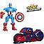 Разборная фигурка Капитан Америка с мотоциклом - Captain America, Marvel, Mashers, Hasbro, фото 2