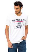 Белая мужская футболка LC Waikiki / ЛС Вайкики с надписью South island