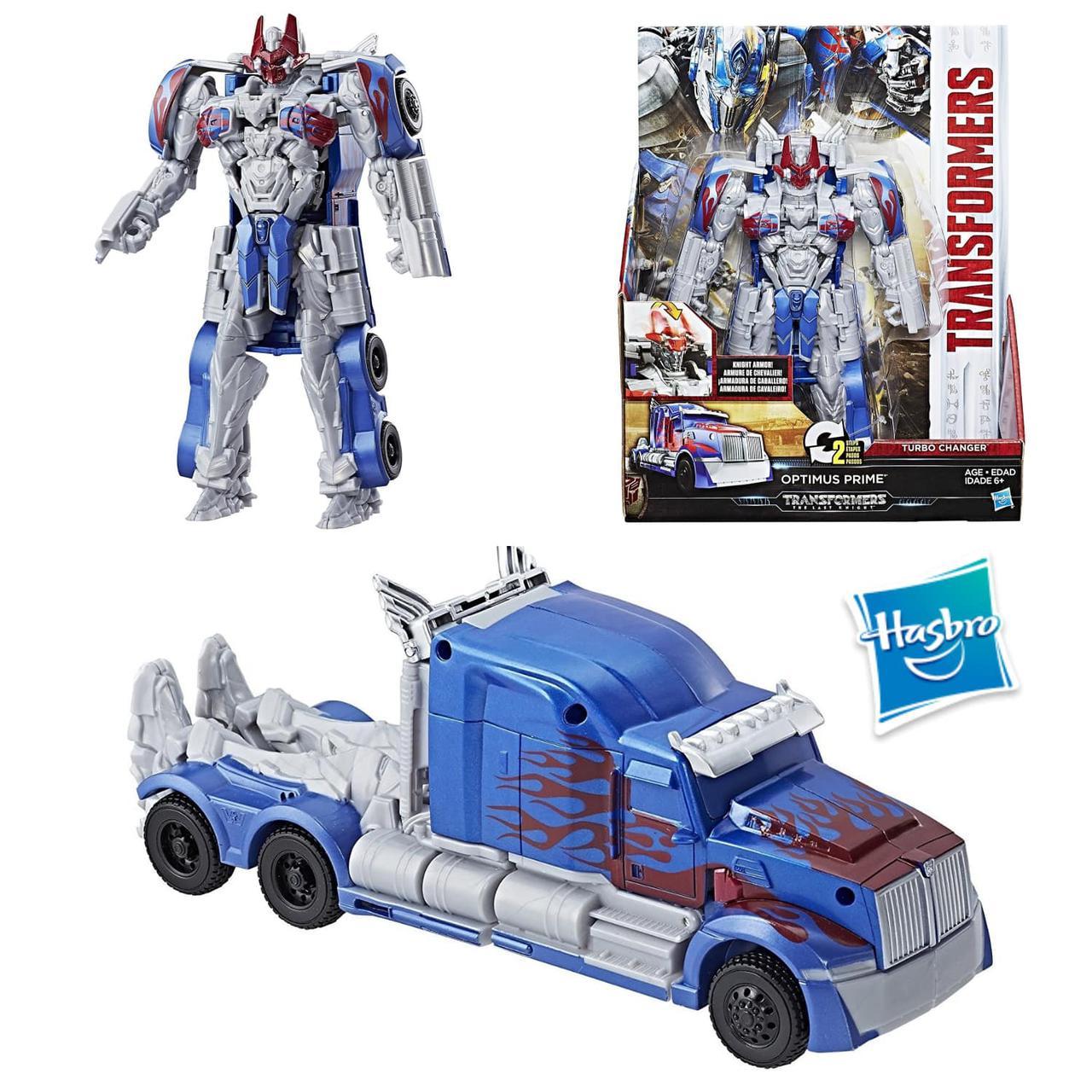 Трансформеры Хасбро Оптимус Прайм последний рыцарь Turbo Changer Optimus Prime