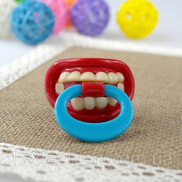 Креативная и забавная соска пустышка зубы №6