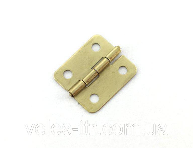 Петля для шкатулок золото 19х16 мм 270º универсальная