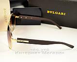 Женские и мужские солнцезащитные очки BvLgari Булгари Aviator Авиатор унисекс качественная копия, фото 3