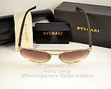 Женские и мужские солнцезащитные очки BvLgari Булгари Aviator Авиатор унисекс качественная копия, фото 4