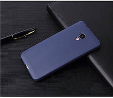 Чехол Бампер Style для Meizu M6s силиконовый синий