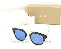 Женские солнцезащитные очки Christian Dior зеркальные синие новая модель качество реплика, фото 1