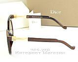 Женские солнцезащитные очки Christian Dior коричневые круглые качество новая модель реплика, фото 3