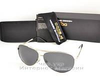 Мужские солнцезащитные очки Porsche Design Поляризационные серебро полностью металлические реплика, фото 1