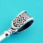 Ухо для оберега с символом Квадрат Сварога