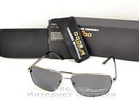Мужские солнцезащитные очки Porsche Design графит качество металлические модный стиль реплика