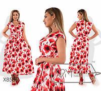 29aebf0483f Красивое длинное летнее платье сарафан большого размера 48 - 56