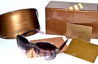 Женсчкие солнцезащитные очки Gucci стрекоза большие линзы Гуччи классический стиль реплика