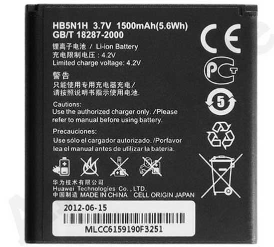 ✅Аккумулятор Huawei Ascend Y220 / HB5N1H (1500 mAh)