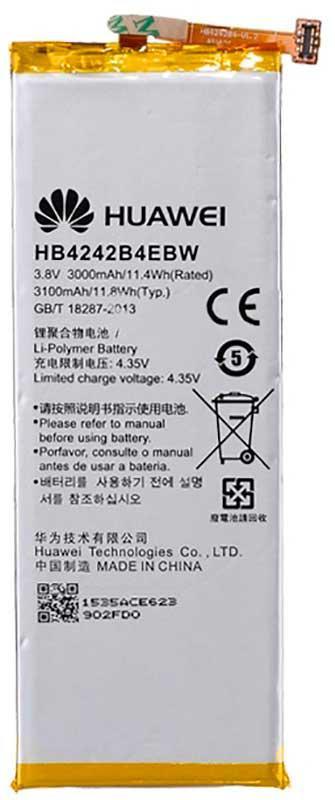 ✅Аккумулятор Huawei Honor 4X / HB4242B4EBW (3000 mAh)